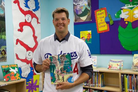 Rich Hill from the Dodgers Visits our School